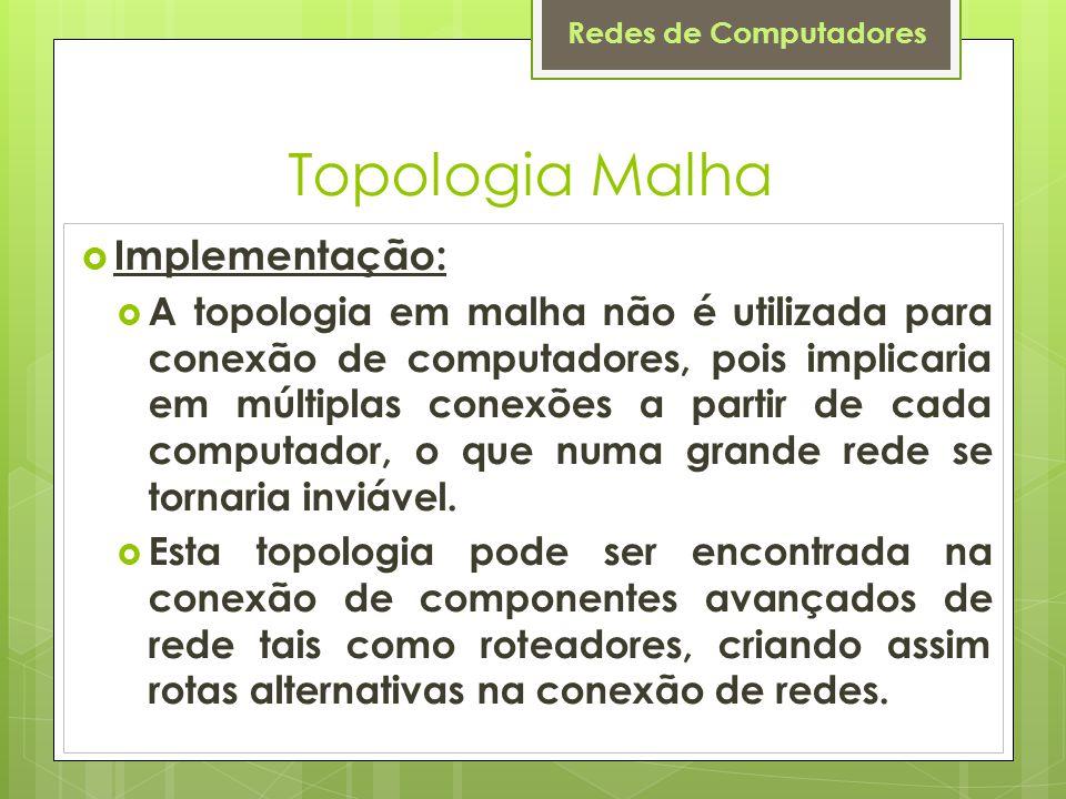 Topologia Malha Implementação: