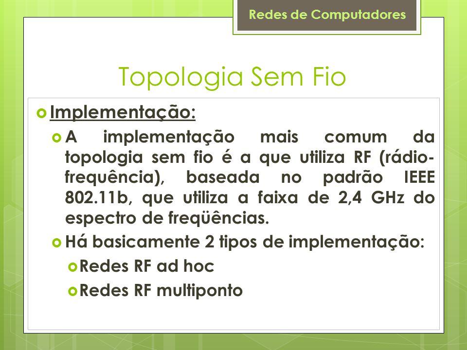 Topologia Sem Fio Implementação: