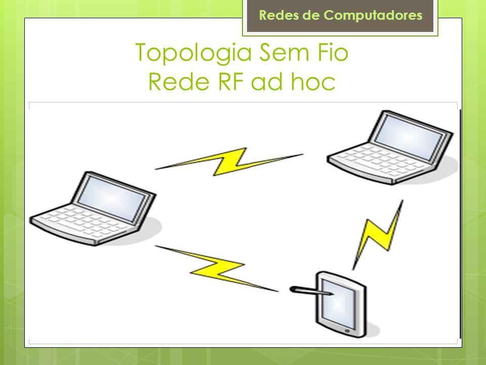 Topologia Sem Fio Rede RF ad hoc