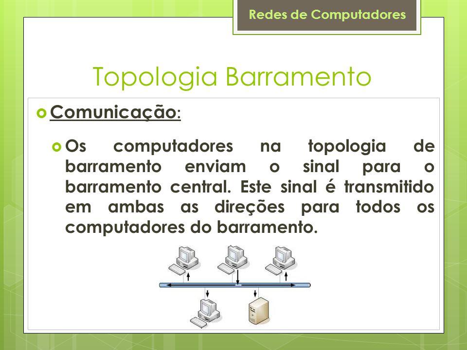 Topologia Barramento Comunicação: