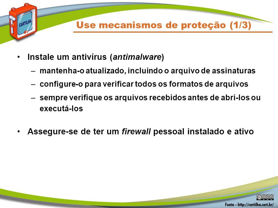 Use mecanismos de proteção (1/3)