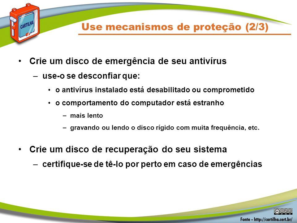 Use mecanismos de proteção (2/3)