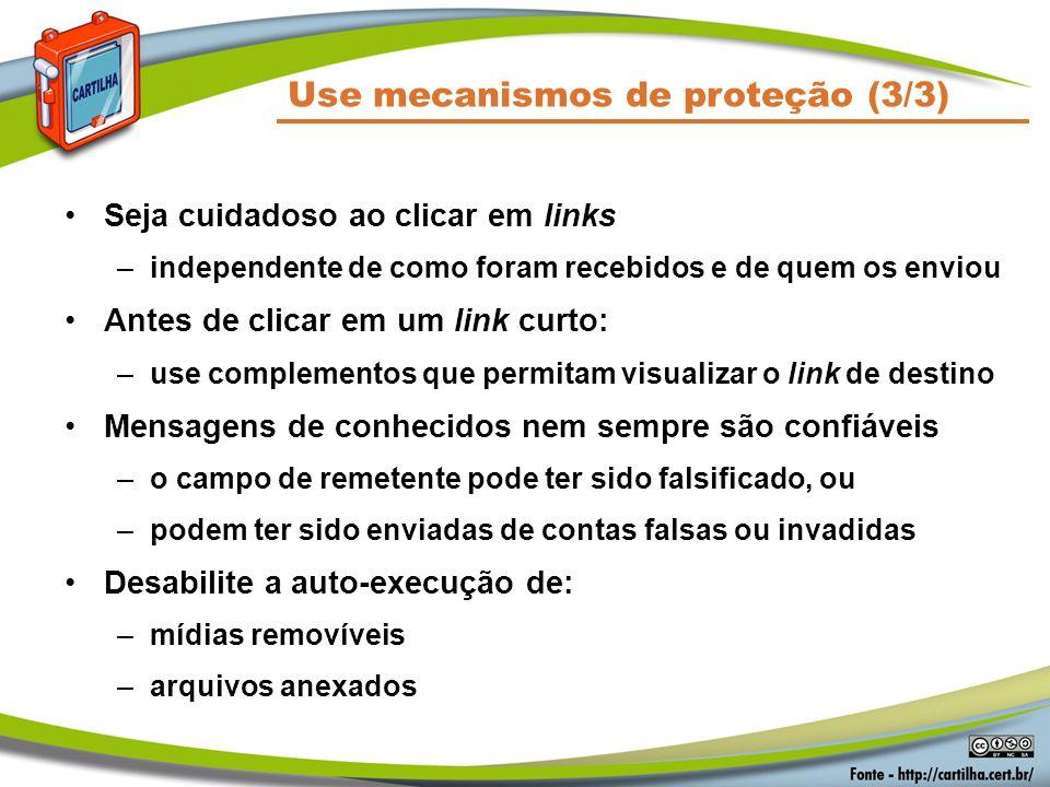 Use mecanismos de proteção (3/3)