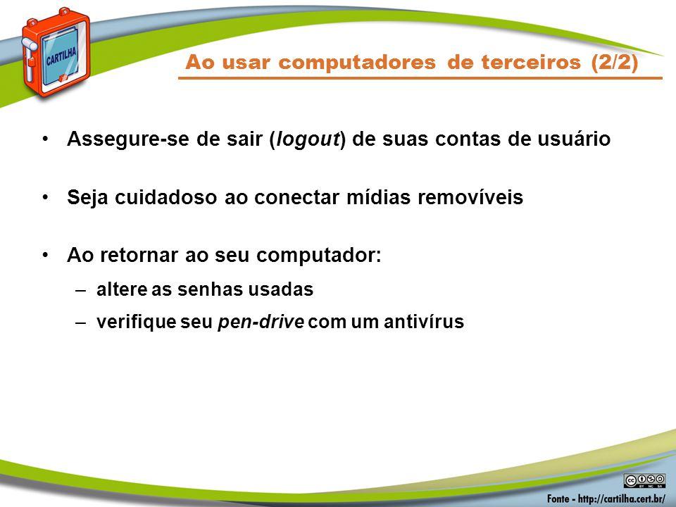 Ao usar computadores de terceiros (2/2)