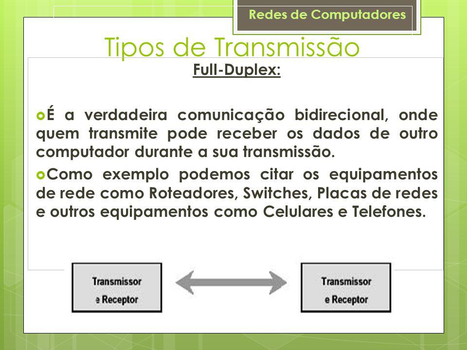 Tipos de Transmissão FulI-Duplex:
