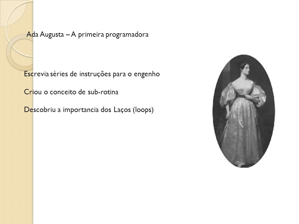 Ada Augusta – A primeira programadora