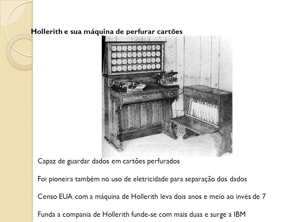Hollerith e sua máquina de perfurar cartões