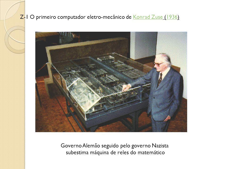 Z-1 O primeiro computador eletro-mecânico de Konrad Zuse (1936)