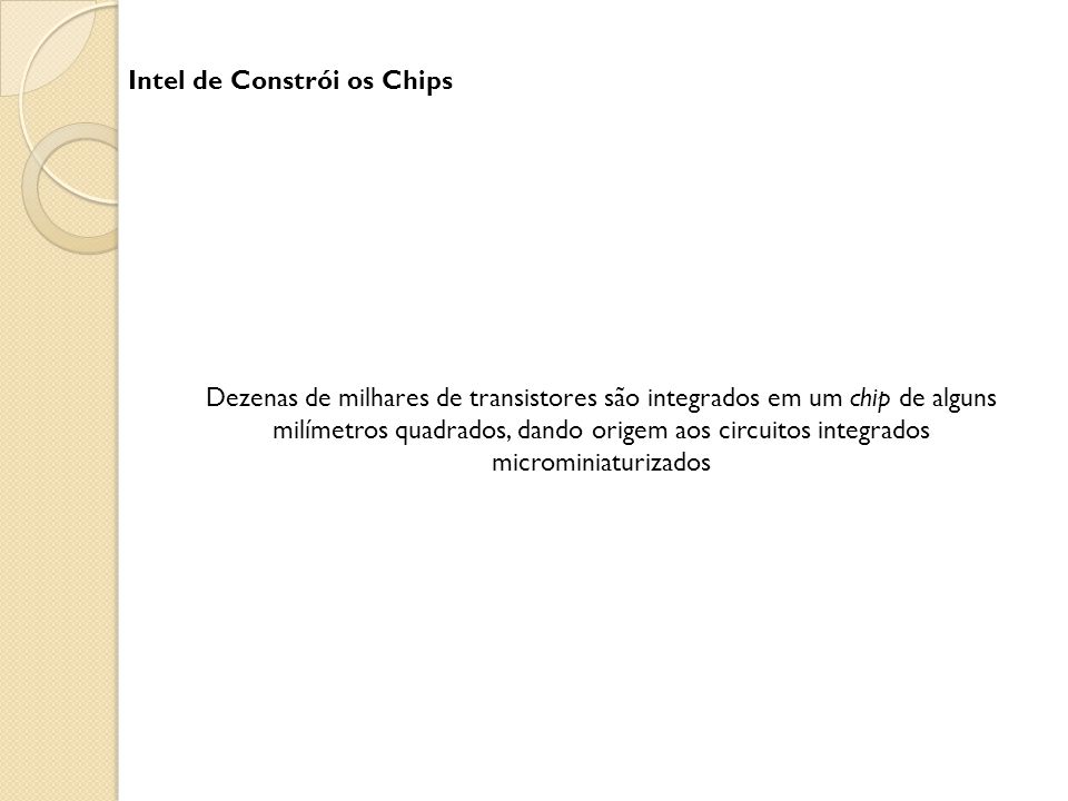 Intel de Constrói os Chips