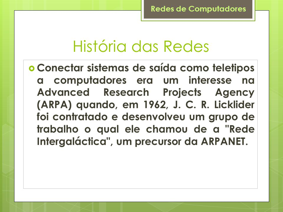 História das Redes