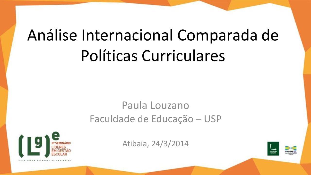 Análise Internacional Comparada de Políticas Curriculares
