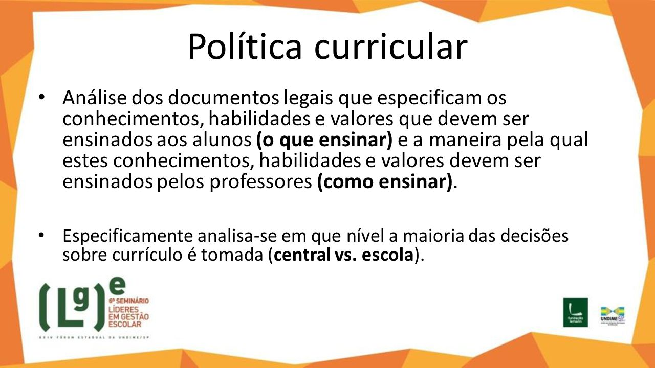 Política curricular