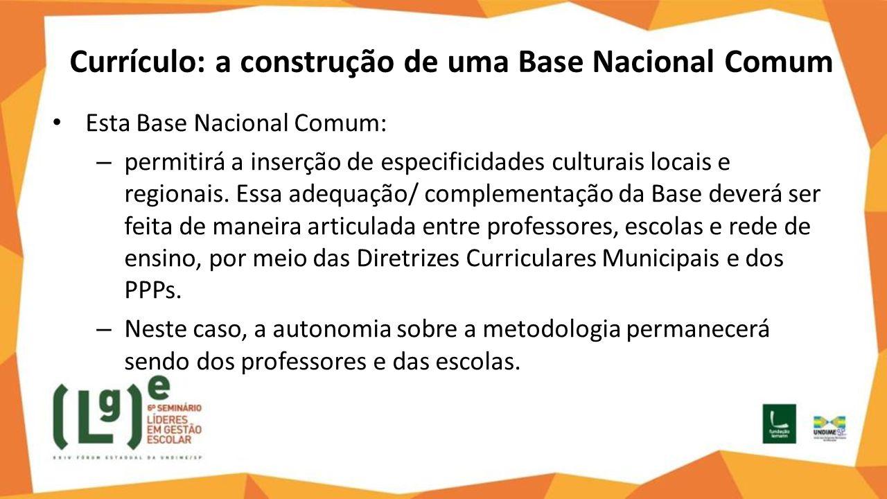 Currículo: a construção de uma Base Nacional Comum