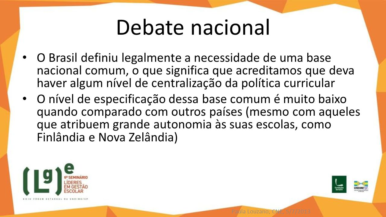 Debate nacional