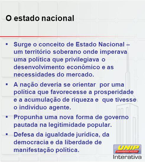 O estado nacional
