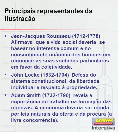 Principais representantes da Ilustração