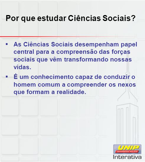 Por que estudar Ciências Sociais
