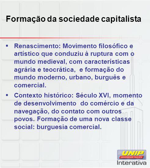 Formação da sociedade capitalista