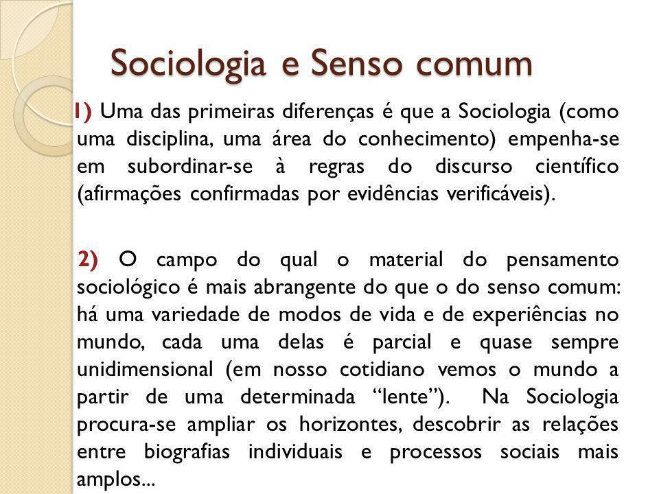 Sociologia e Senso comum