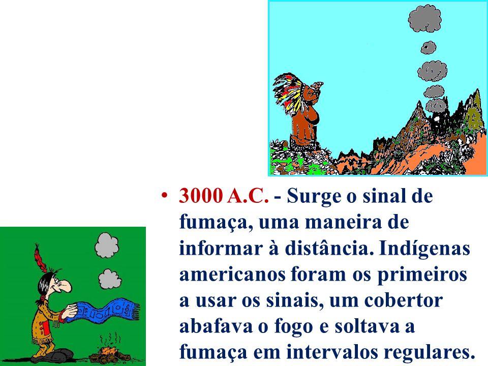 3000 A.C. - Surge o sinal de fumaça, uma maneira de informar à distância.