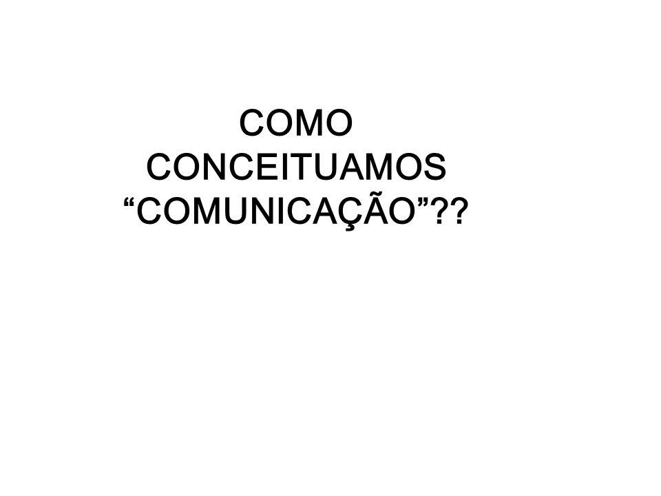 COMO CONCEITUAMOS COMUNICAÇÃO