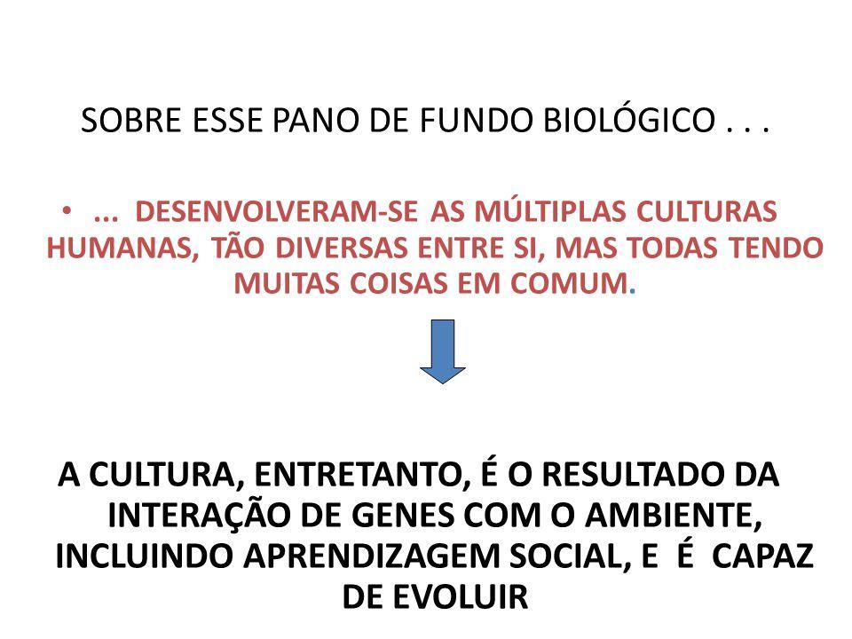SOBRE ESSE PANO DE FUNDO BIOLÓGICO . . .