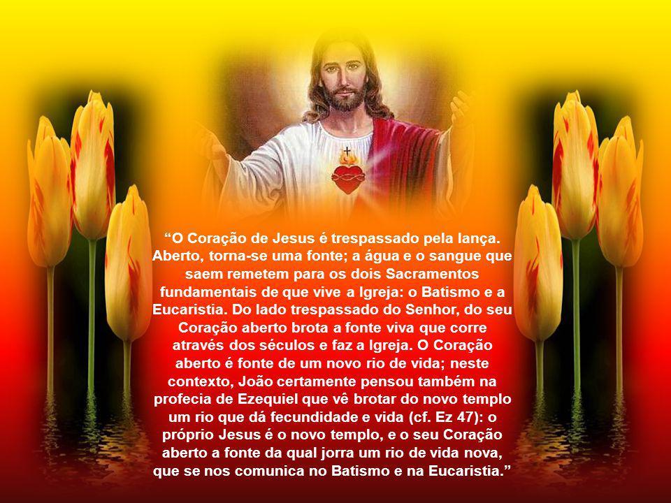 O Coração de Jesus é trespassado pela lança