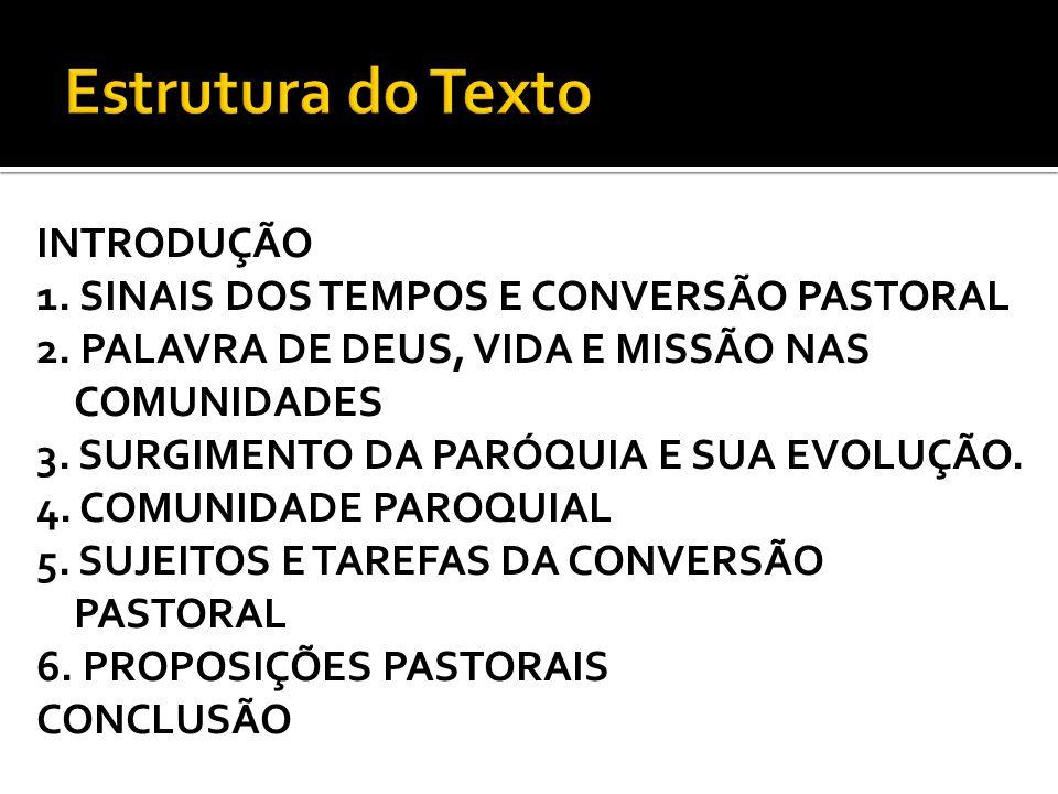 Estrutura do Texto INTRODUÇÃO