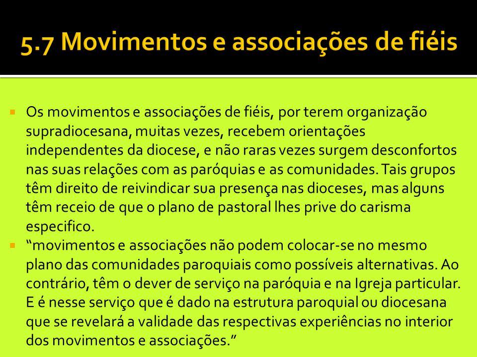 5.7 Movimentos e associações de fiéis