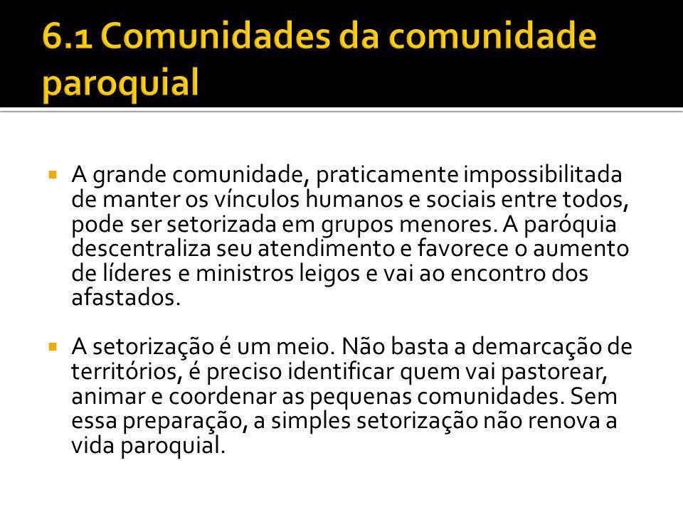 6.1 Comunidades da comunidade paroquial