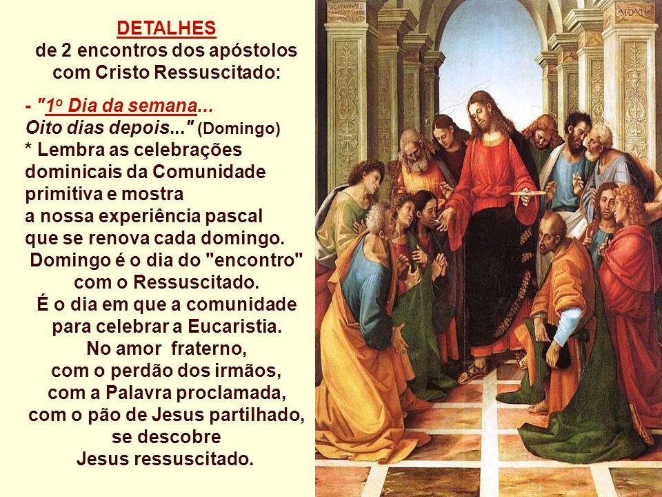 de 2 encontros dos apóstolos com Cristo Ressuscitado: