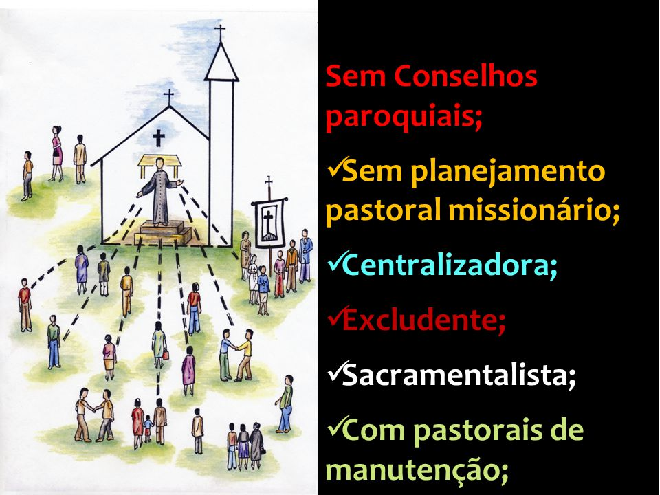 Sem Conselhos paroquiais;