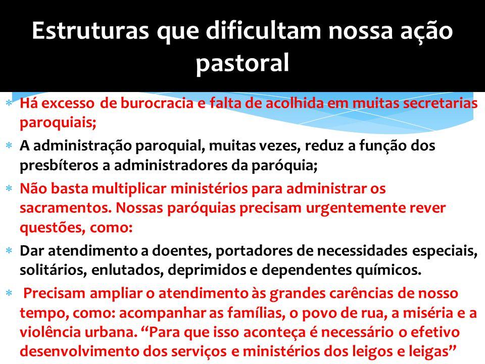 Estruturas que dificultam nossa ação pastoral
