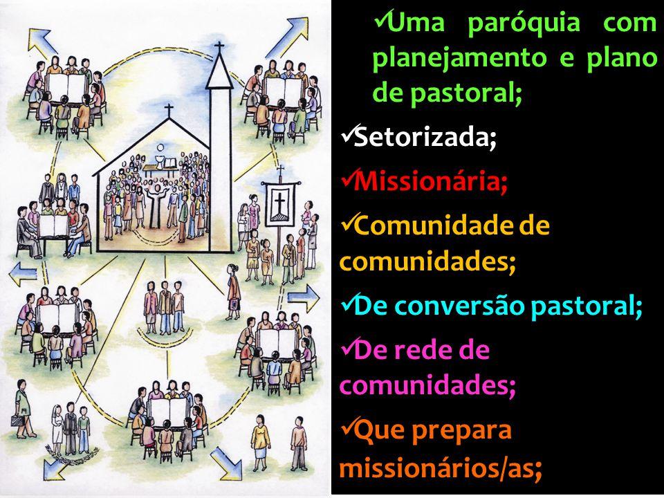 Uma paróquia com planejamento e plano de pastoral;