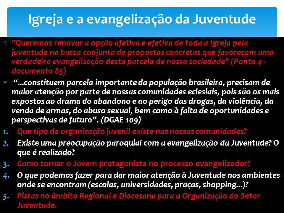 Igreja e a evangelização da Juventude