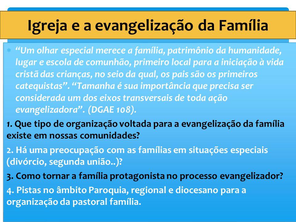 Igreja e a evangelização da Família
