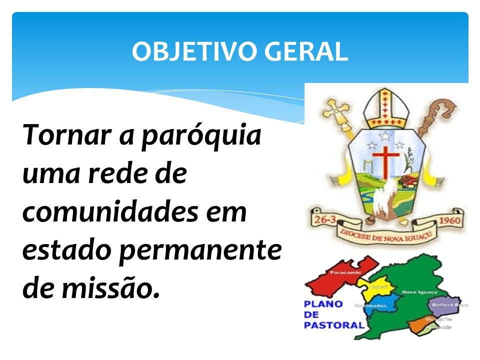 OBJETIVO GERAL Tornar a paróquia uma rede de comunidades em estado permanente de missão.