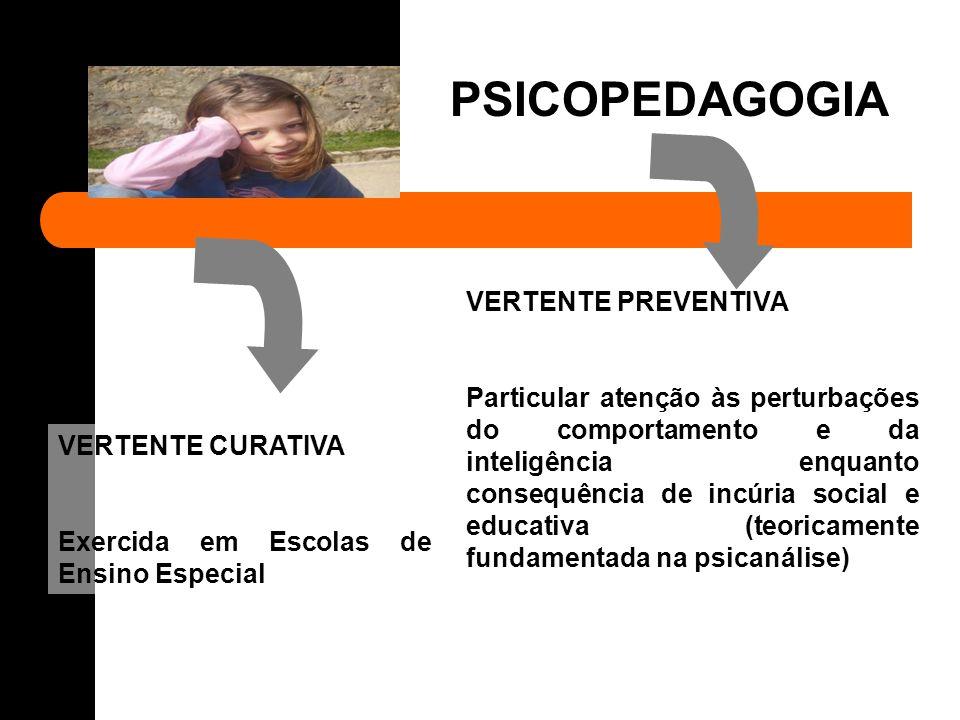 PSICOPEDAGOGIA VERTENTE PREVENTIVA