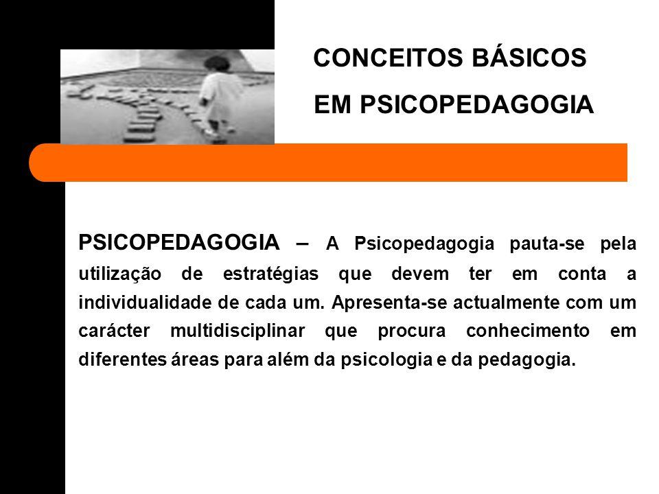 CONCEITOS BÁSICOS EM PSICOPEDAGOGIA