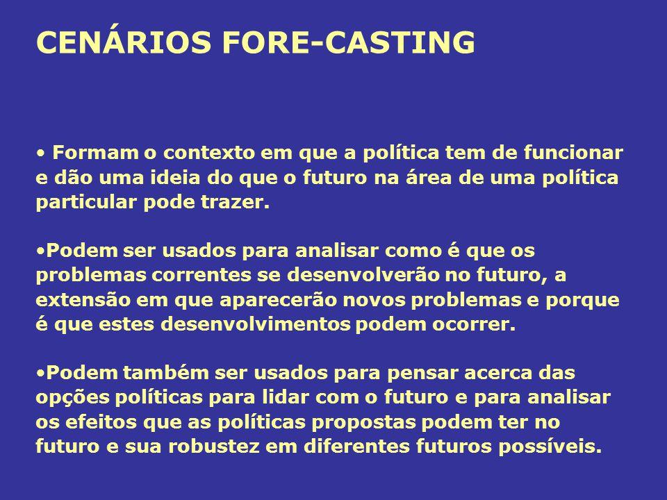 CENÁRIOS FORE-CASTING
