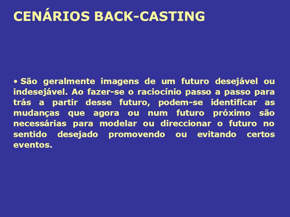 CENÁRIOS BACK-CASTING