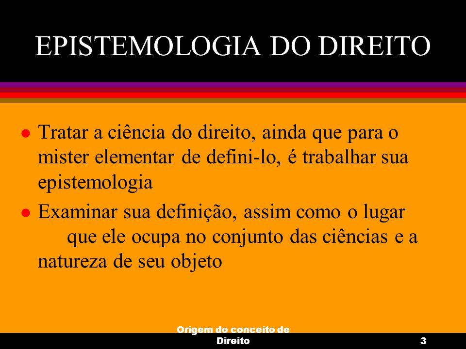 EPISTEMOLOGIA DO DIREITO