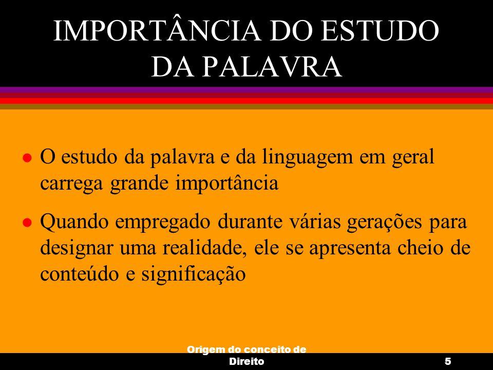IMPORTÂNCIA DO ESTUDO DA PALAVRA