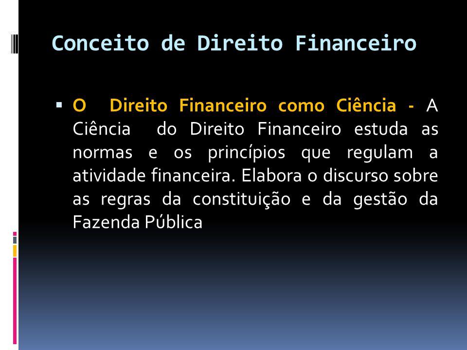 Conceito de Direito Financeiro