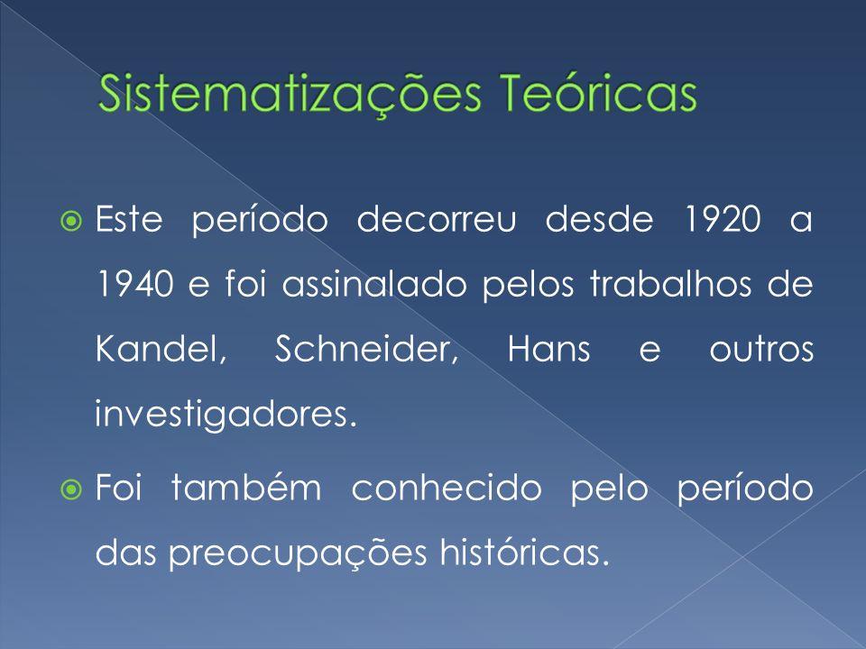 Sistematizações Teóricas