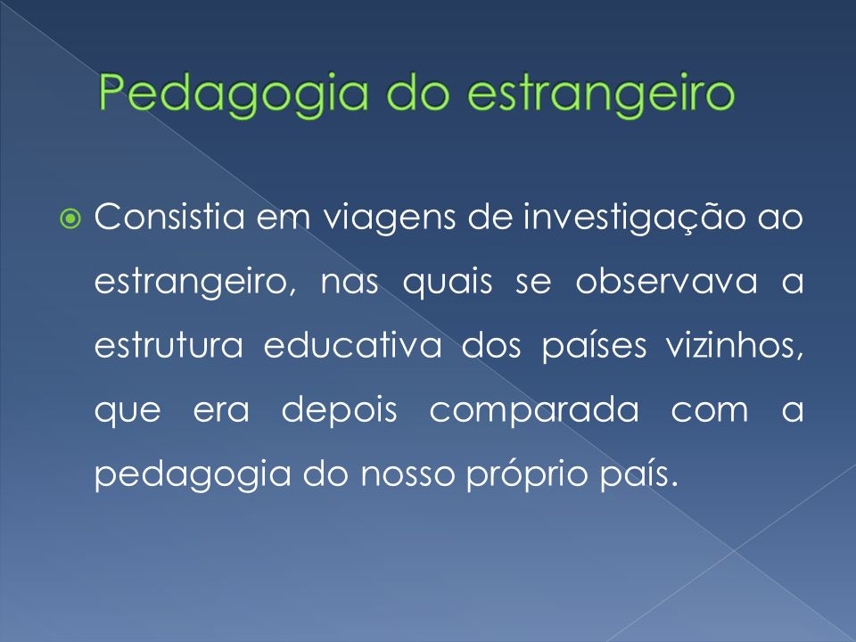Pedagogia do estrangeiro