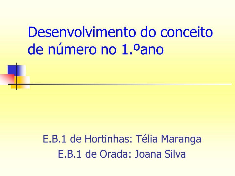 Desenvolvimento do conceito de número no 1.ºano