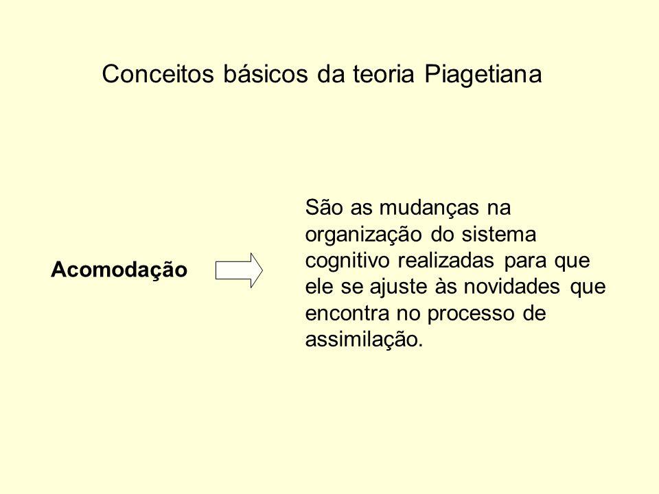 Conceitos básicos da teoria Piagetiana