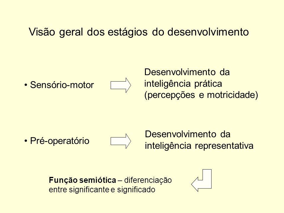 Visão geral dos estágios do desenvolvimento