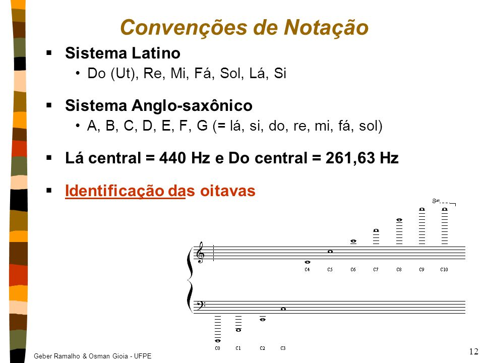 Convenções de Notação Sistema Latino Sistema Anglo-saxônico